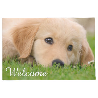 Golden Retriever Cute Puppy Dreams Dog Pet Welcome Doormat