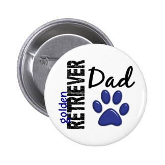 Golden Retriever Dad 2 Button