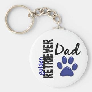 Golden Retriever Dad 2 Keychains
