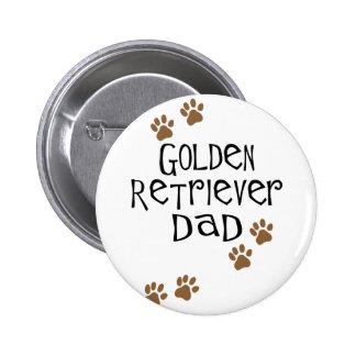 Golden Retriever Dad 2 Inch Round Button