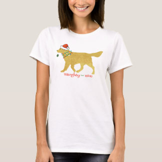 Golden retriever de Noël vilain mais Nice T-shirt