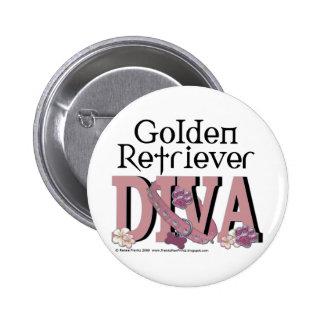 Golden Retriever Diva Pin