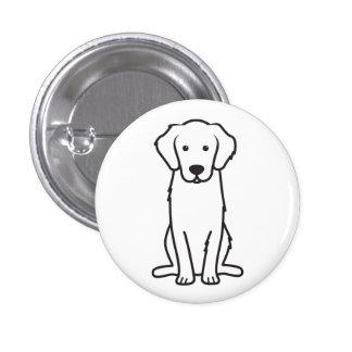 Golden Retriever Dog Cartoon 1 Inch Round Button