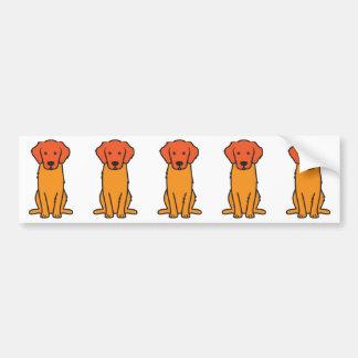 Golden Retriever Dog Cartoon Bumper Stickers