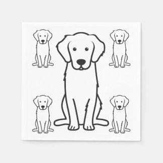Golden Retriever Dog Cartoon Disposable Napkin