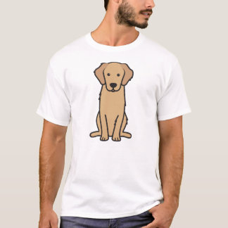 Golden Retriever Dog Cartoon T-Shirt