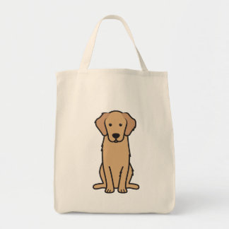 Golden Retriever Dog Cartoon Tote Bag