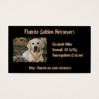 Golden Retriever Dog Custom Business Card