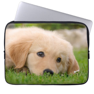Golden Retriever Dog Cute Puppy Dreaming, Neoprene Computer Sleeve
