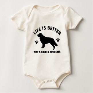 golden-retriever dog design baby bodysuit