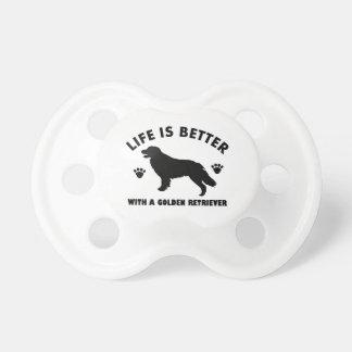 golden-retriever dog design pacifier