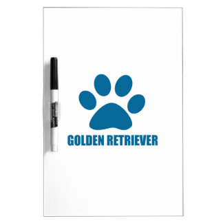 GOLDEN RETRIEVER DOG DESIGNS DRY ERASE BOARD