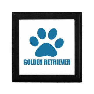 GOLDEN RETRIEVER DOG DESIGNS GIFT BOX