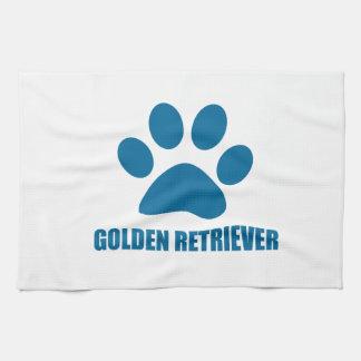 GOLDEN RETRIEVER DOG DESIGNS KITCHEN TOWEL