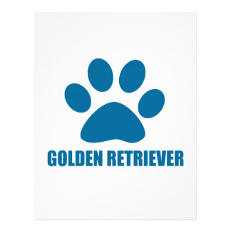 GOLDEN RETRIEVER DOG DESIGNS LETTERHEAD