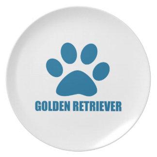 GOLDEN RETRIEVER DOG DESIGNS PLATE