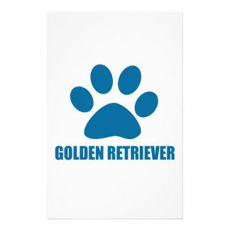 GOLDEN RETRIEVER DOG DESIGNS STATIONERY