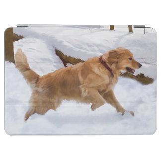Golden Retriever Dog in the Snow iPad Air Cover