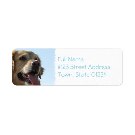 Golden Retriever Dog Mailing Label Return Address Label