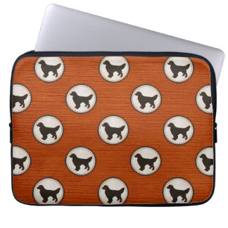 Golden Retriever Dog Medallion Emblem Pattern Laptop Sleeve