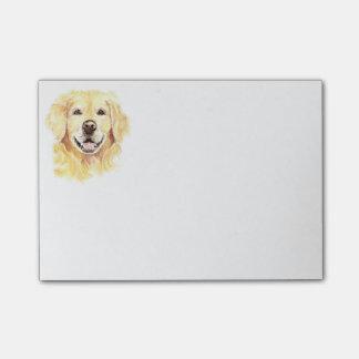 Golden Retriever Dog Pet Animal watercolor Post-it Notes