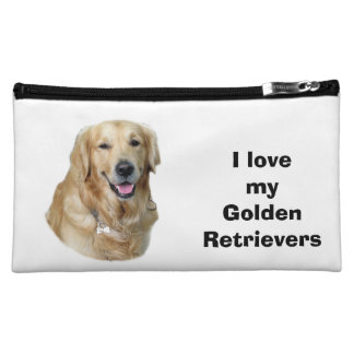 Golden Retriever dog photo Cosmetic Bags