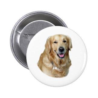 Golden Retriever dog photo portrait 2 Inch Round Button