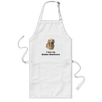 Golden Retriever dog photo portrait Long Apron