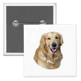 Golden Retriever dog photo portrait Pinback Button
