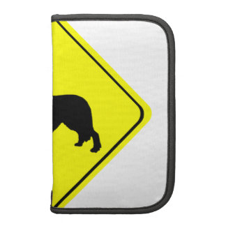 Golden Retriever Dog Silhouette Crossing Sign Planners