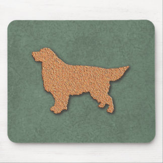 Golden Retriever Dog Silhouette Mouse Pad