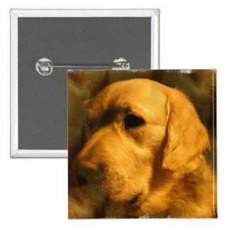 Golden Retriever Dog  Square Pin