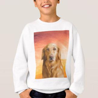 Golden Retriever Dog Water Color Art Oil Painting Sweatshirt