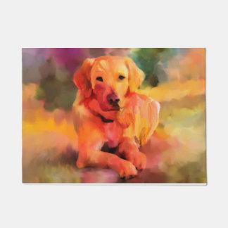 Golden Retriever Dog Watercolor Art Doormat