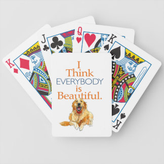 Golden Retriever dog watercolor everyone beautiful Bicycle Playing Cards