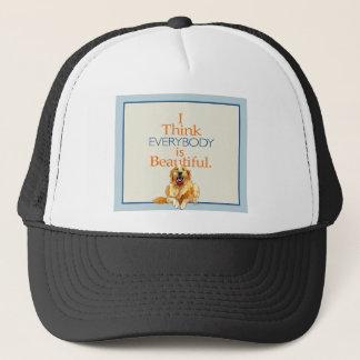 Golden Retriever Dog watercolor everyone beautiful Trucker Hat