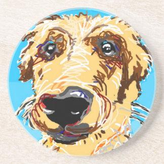 Golden Retriever Drawing Coaster