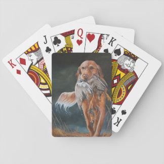 Golden Retriever/Duck Dog Art Playing Cards