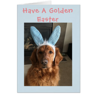 Golden Retriever Easter Card
