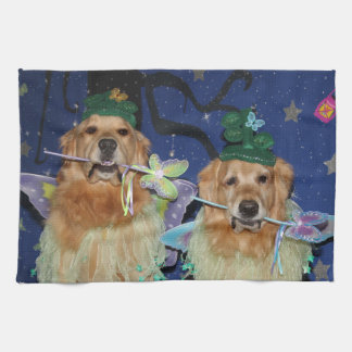 Golden Retriever Fairies Kitchen Towel