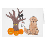 Golden Retriever Fall Card
