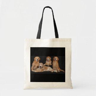 Golden Retriever Family Tote Bag