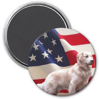 Golden Retriever Flag Magnet