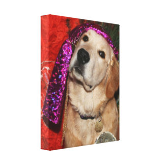 Golden Retriever Fortune Teller Canvas Print