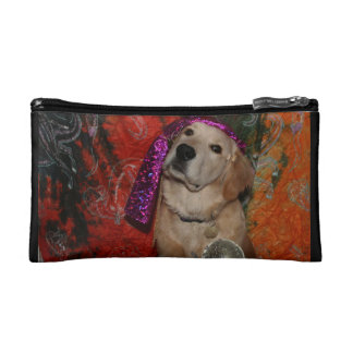 Golden Retriever Fortune Teller Cosmetic Bag