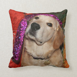 Golden Retriever Fortune Teller Throw Pillow