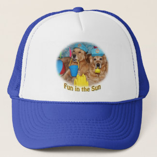 Golden Retriever Fun in the Sun Trucker Hat