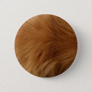 Golden Retriever Fur 2 Inch Round Button