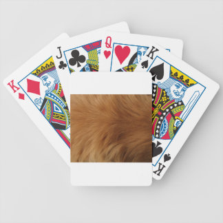 Golden Retriever Fur Bicycle Playing Cards