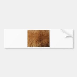 Golden Retriever Fur Bumper Sticker